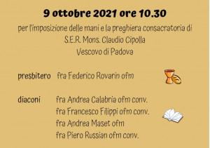 20211009 ordinazioni al santo 9 ottobre 2021 B